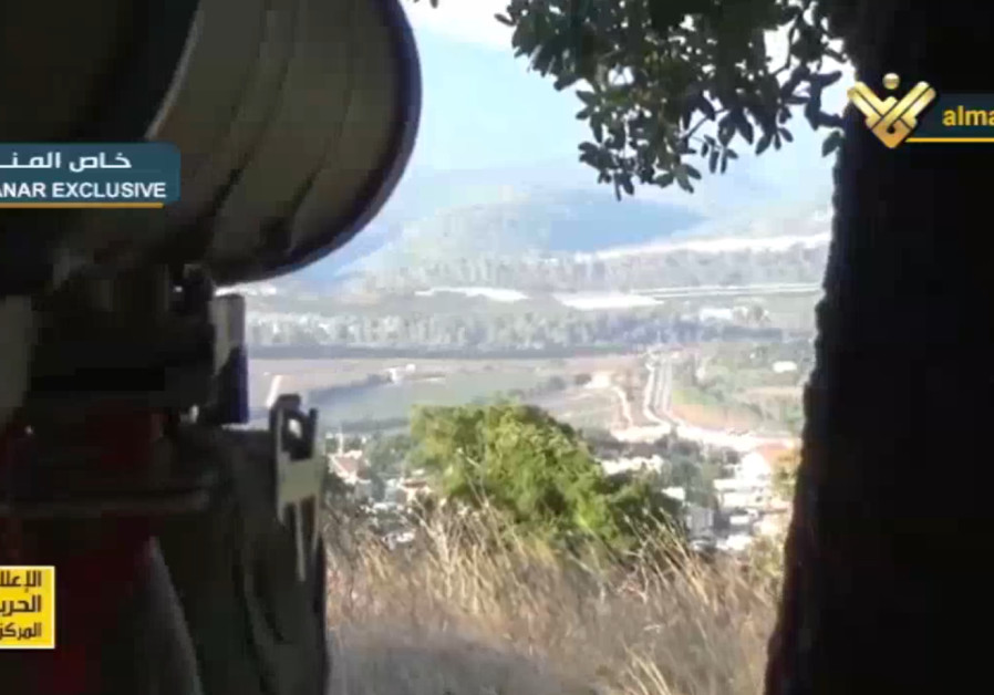 Footage of Hezbollah anti-tank missile attack on IDF vehicle near Avivim in Galilee