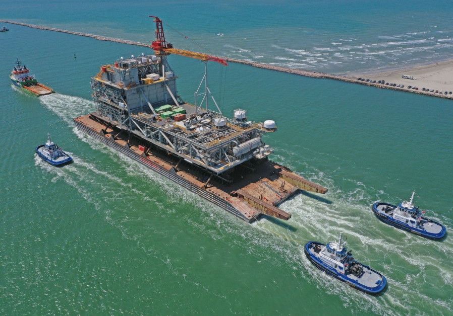 Leviathan gas platform construction enters final stages