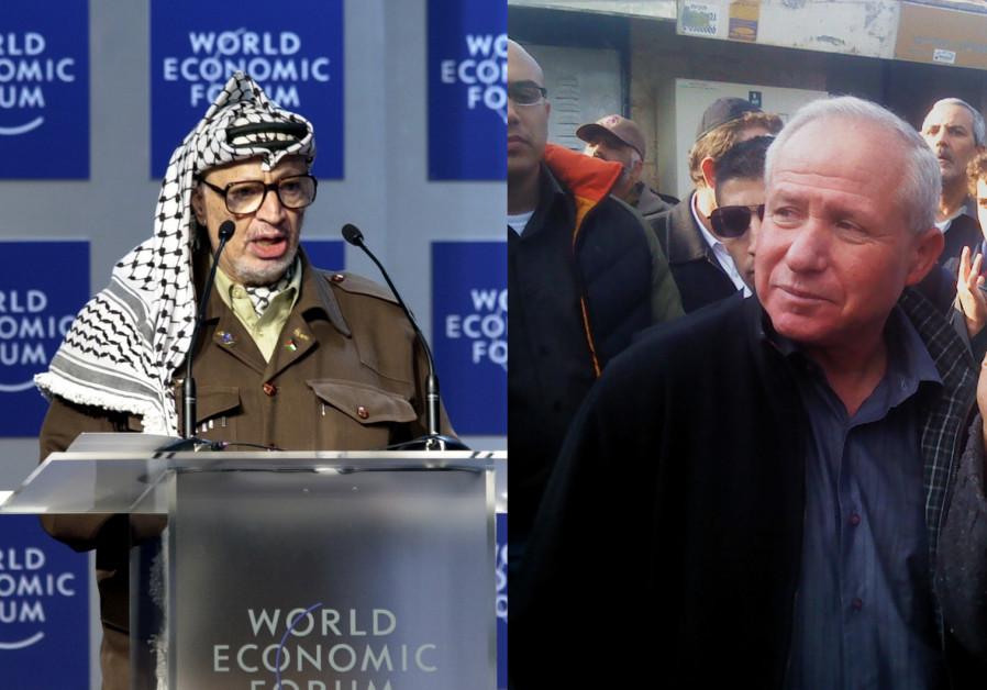 Palestinian President Yasser Arafat and former Shin Bet head MK Avi Dichter (Likud)