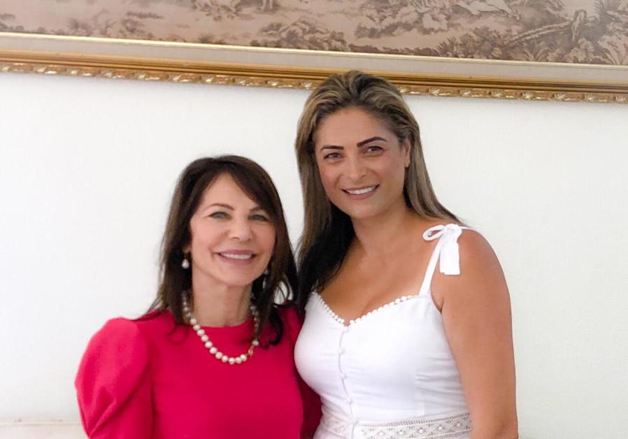 Yona Bartal (left) with Doris Hifawi
