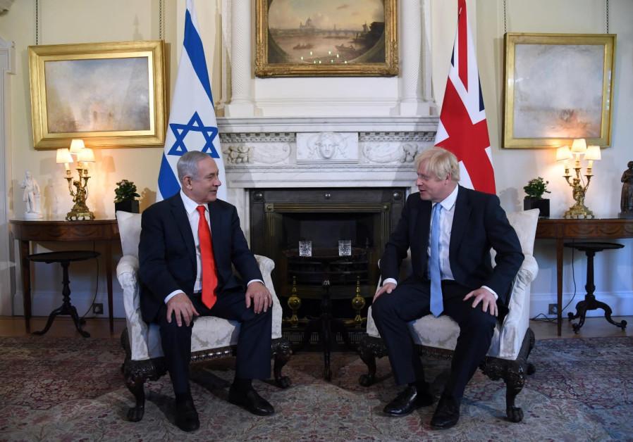 Prime Minister Benjamin Netanyahu meets UK Prime Minister Boris Johnson