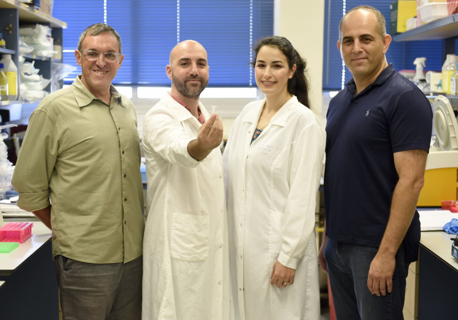The research group. From right to left: Prof. Roee Amit, Inbal Vaknin, Leon Anavy, and Prof. Zohar Y