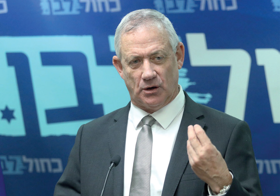 Netanyahu's main challenger: Blue and White leader and former IDF chief of staff Benny Gantz ( Credit: MARC ISRAEL SELLEM)