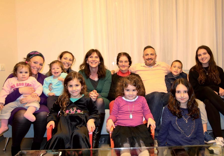 Barbara Brown (center) and her family, all of whom live in Israel (Credit: Courtesy)