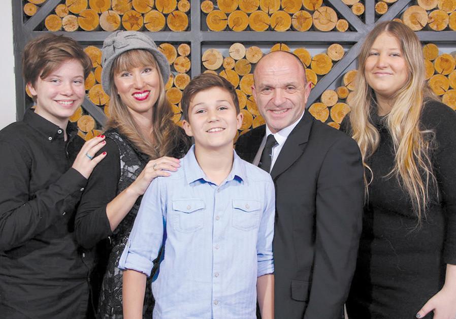 THE GRANAT family, with MJ (left). (Credit: DAN KUPFER)