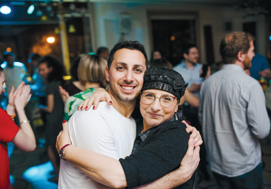 MICHAL MINTZER with her son Sefi. (Credit: NATALIE SHORE)