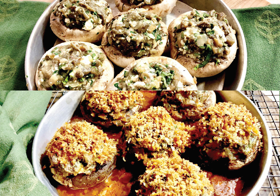 STUFFED PORTOBELLO MUSHROOMS (Credit: PASCALE PEREZ-RUBIN)