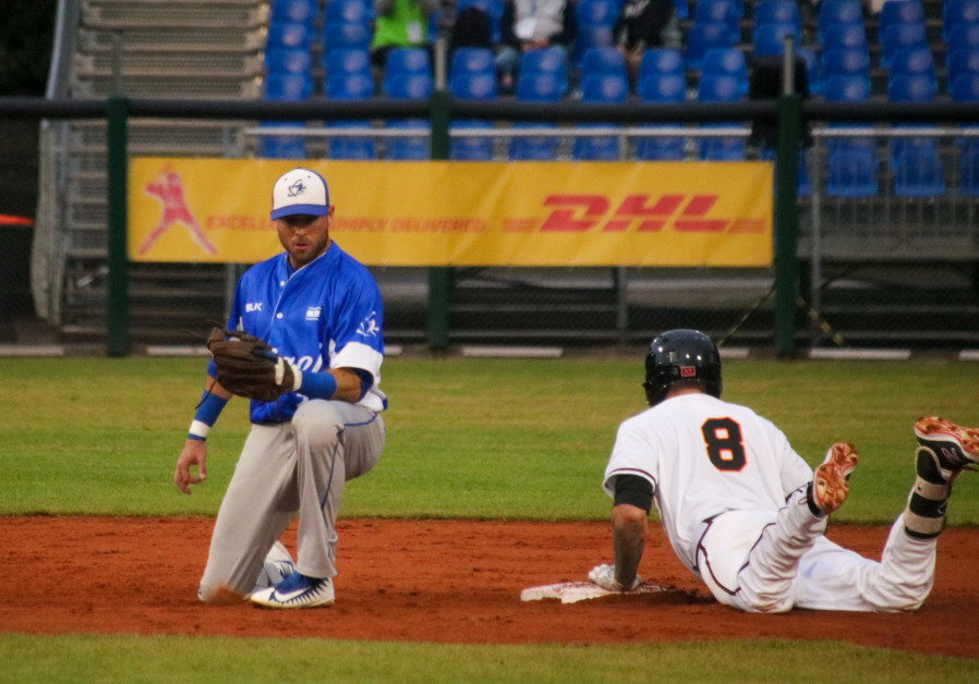 Israel playing at the 2019 European Baseball Championship in Germany, September 2019