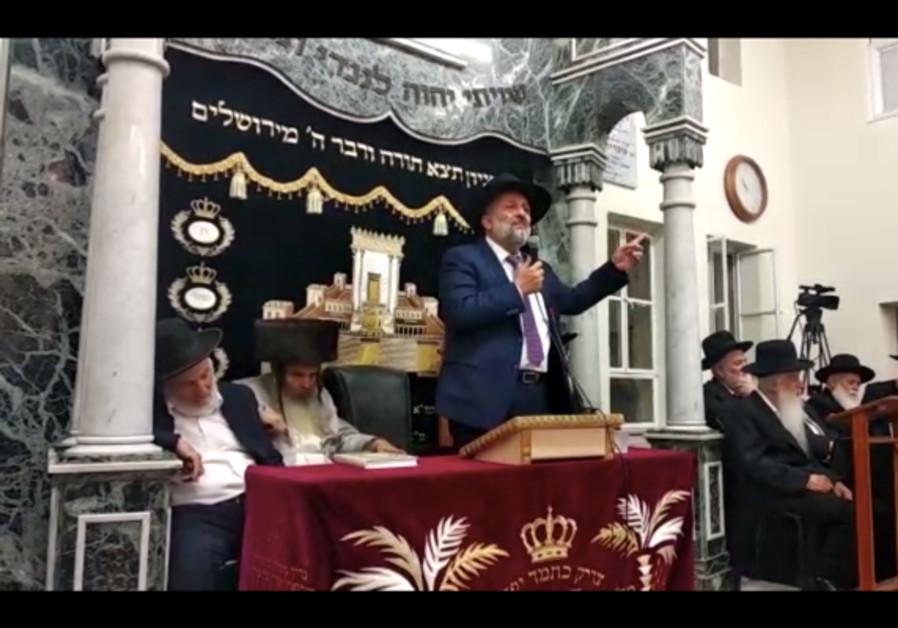Deri: left-wing has declared war on God, Judaism