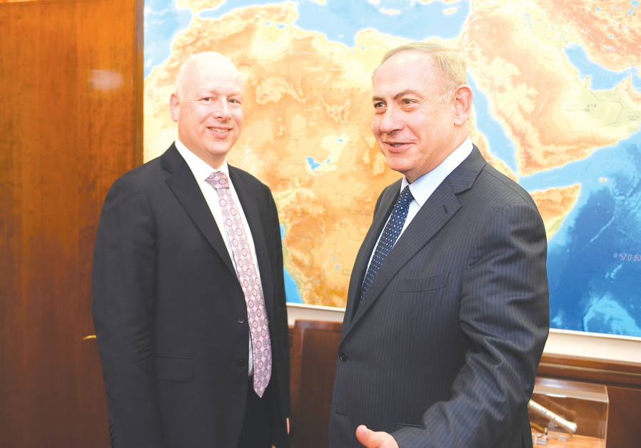 JASON GREENBLATT, US President Donald Trump's Middle East envoy, arriving in Jerusalem in March.