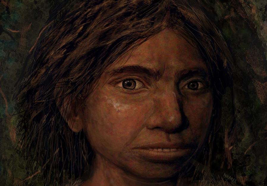 Portrait of a female teenager Denisovan