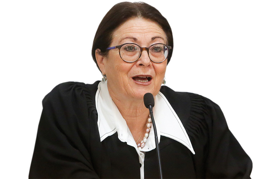 Israel's supreme justice Esther Hayut is full in control