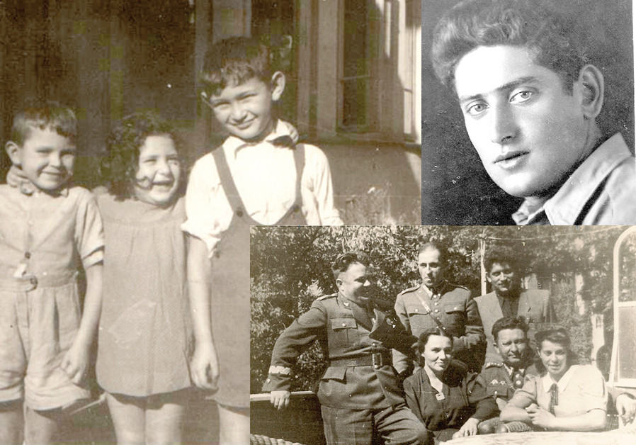 (CLOCKWISE FROM top left) Young Miri (center); a young Tzvi Netzer; 'Running Poland at age 25': Netzer with Polish officers. (Credit: Courtesy)