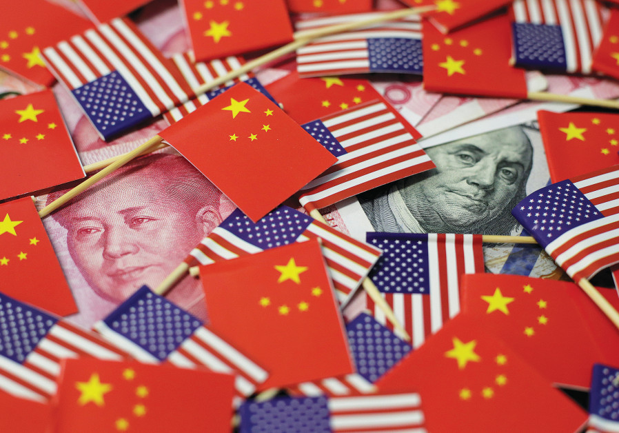 China and United States flags