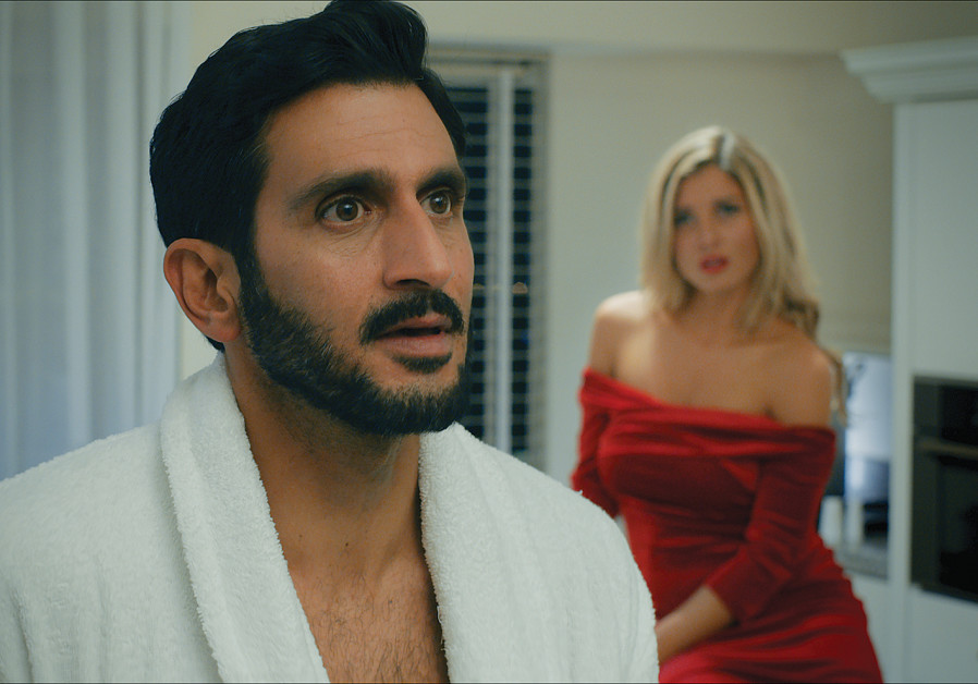 TSAHI HALEVI and Adi Himelbloy play for laughs in a scene from 'Mossad.'