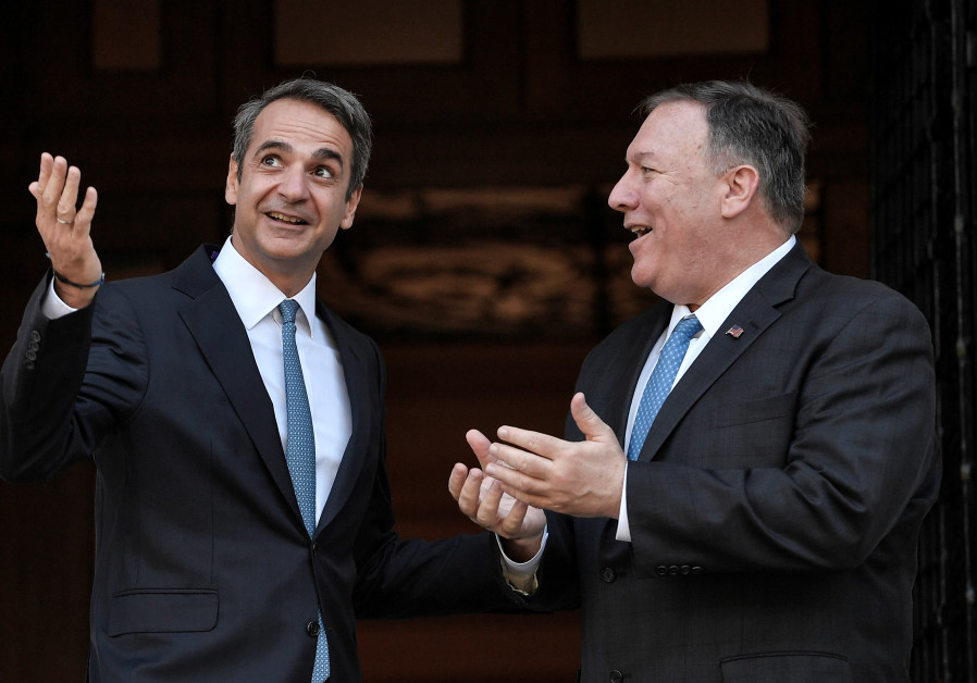 Greek PM asks U.S.'s Pompeo for help to calm offshore tensions with Turkey