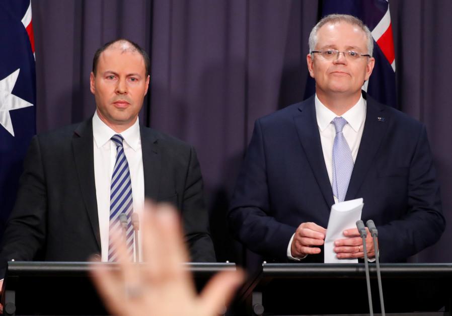 The new Australian Prime Minister Scott Morrison and his deputy Josh Frydenberg.