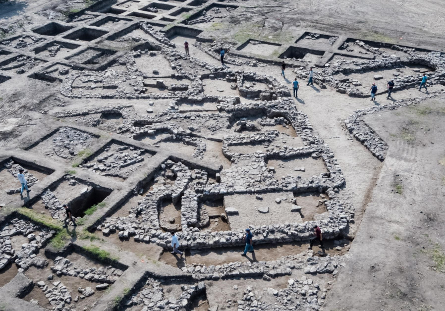 Aerial photograph of the excavation site, Ein Assur, northern Israel