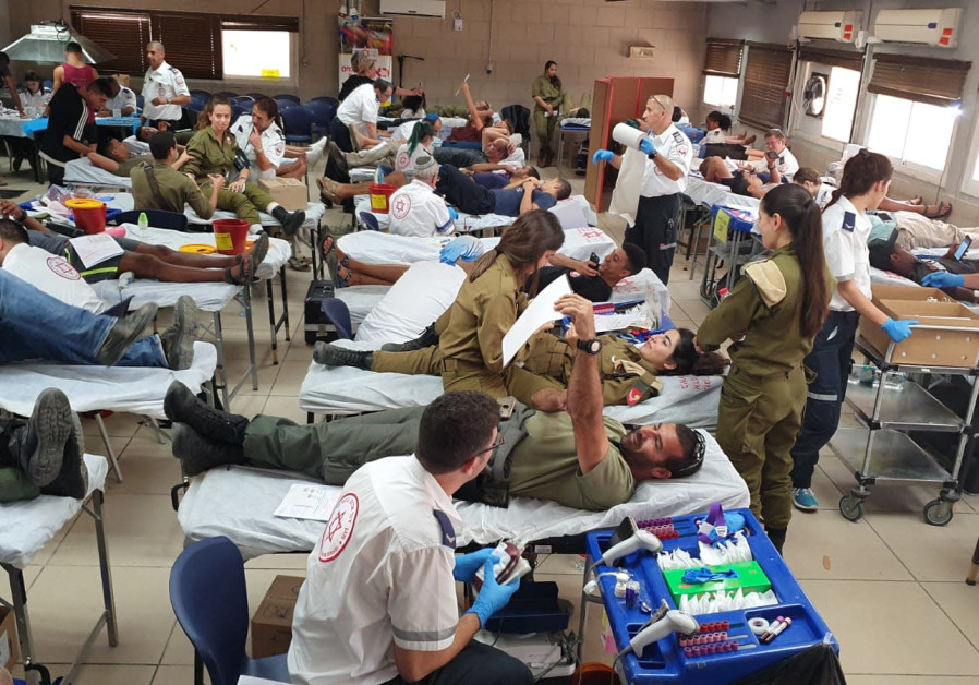 """Blood Brothers"" blood donation campaign by IDF and MDA, Oct. 2019"