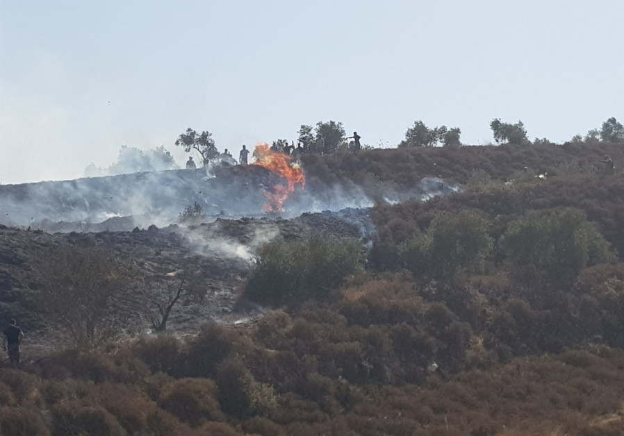 Fire breaks out in small Arab village, arson suspected: Palestinian report