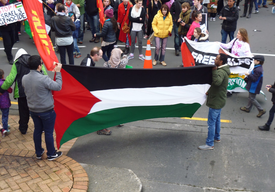 Marchers at an SJP-organized march in support of Gaza in Wellington, New Zealand