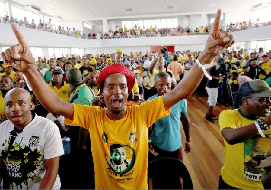 AFRICAN NATIONAL Youth League members interrupt a memorial service for anti-apartheid activist Ahmed