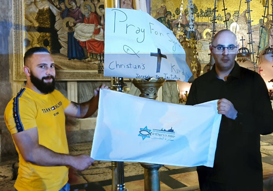 Arab Christians pray for peace in Syria at Jerusalem pray session