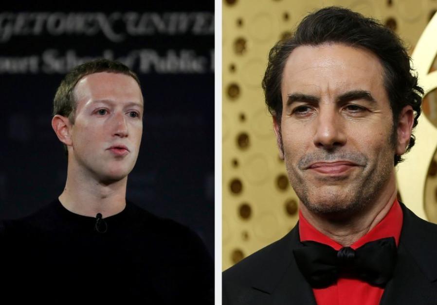 Sacha Baron Cohen makes Nazi analogy to slam Zuckerberg's Facebook policy