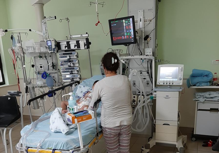 Kurdish children being treated at Israeli hospital