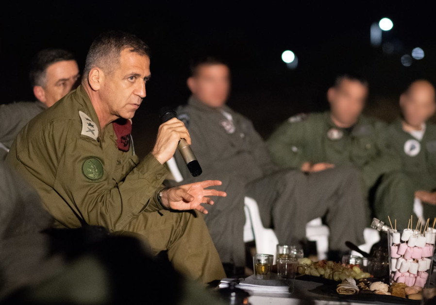 IDF Chief of Staff Lt.-Gen. Aviv Kochavi in a meeting with IAF commanders