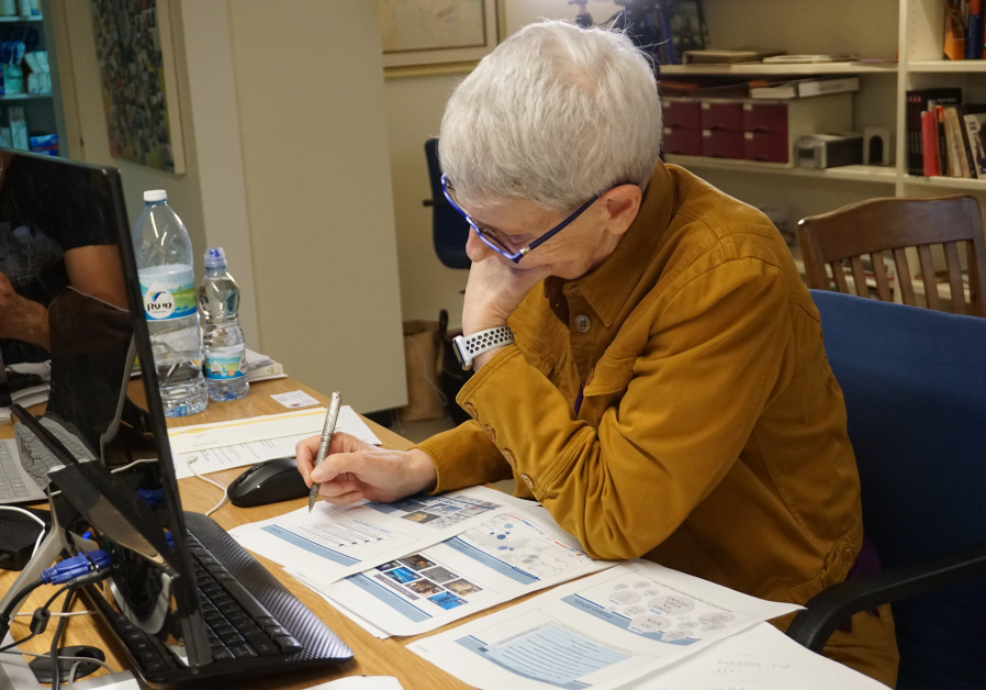 Dr. Orna Berry at her desk. (photo credit: The Media Line)