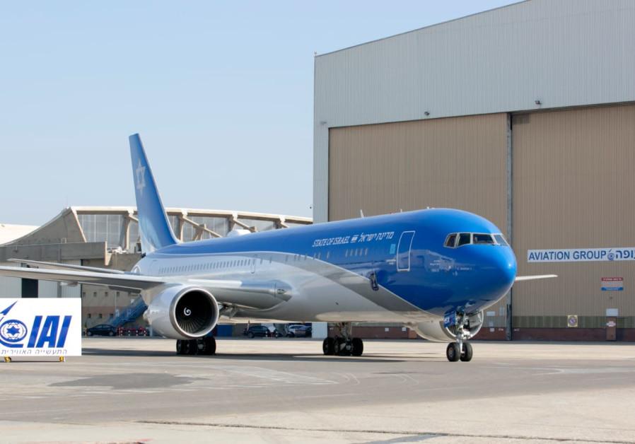 O próprio 'Air Force One' de Israel realiza primeiro voo de teste
