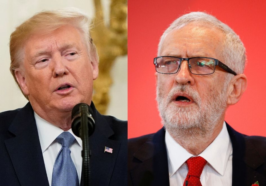 U.S. President Donald Trump and UK Labour Party leader Jeremy Corbyn