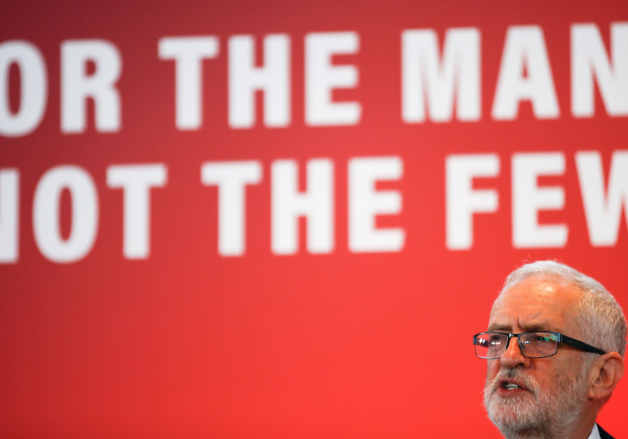 Britain's opposition Labour Party leader Jeremy Corbyn speaks at a launch event for the Labour party