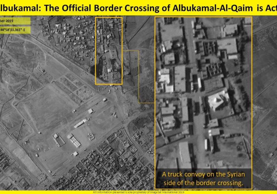 Des images satellites montrent un convoi de camions traversant
