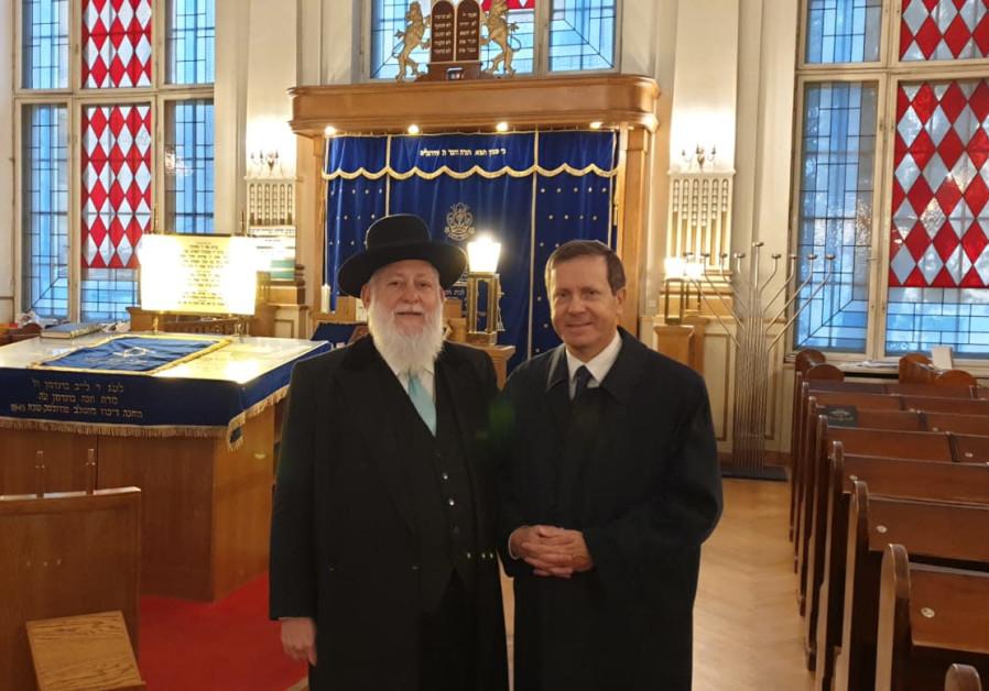Herzog, Berlin community mark 81 years since Kristallnacht