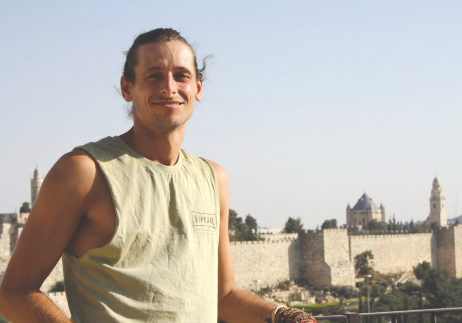 Extreme runner Nick Butter in Jerusalem