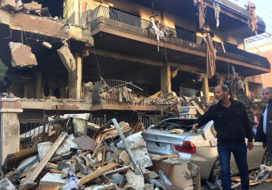 Local do suposto ataque israelense contra a Jihad Islâmica em Damasco na terça-feira