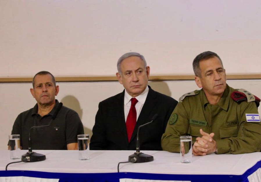 Prime Minister Benjamin Netanyahu, IDF Chief of Staff Aviv Kochavi and head of Shin Bet Nadav Argama