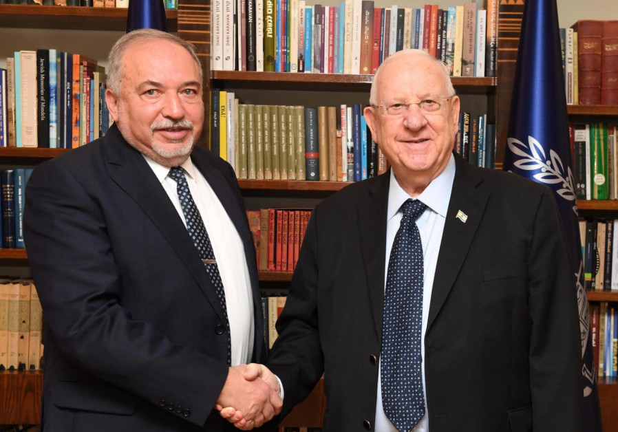 President Rivlin and kingmaker Liberman meeting on coalition