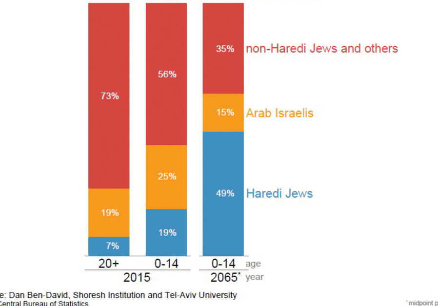 Israel's changing demographics (Credit: Dan Ben-David)