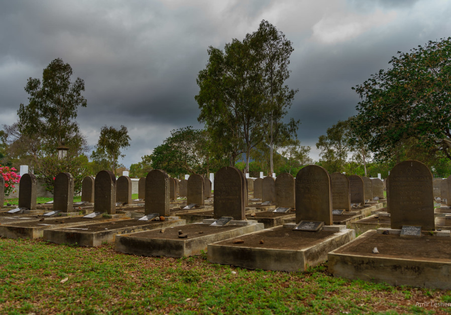 The graves in Saint Martin Jewish Cemetery in Mauritius tell a Holocaust story that few people know. (photo credit: AMIR LESHEM)