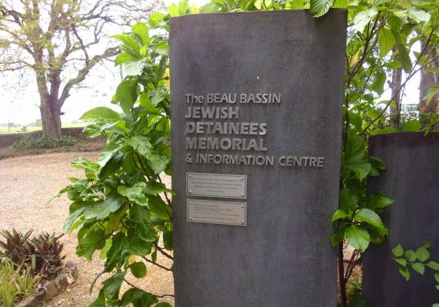 The Beau Bassin Jewish Detainees Memorial is seen in Mauritius. (Photo credit: EZRA TAYLOR)