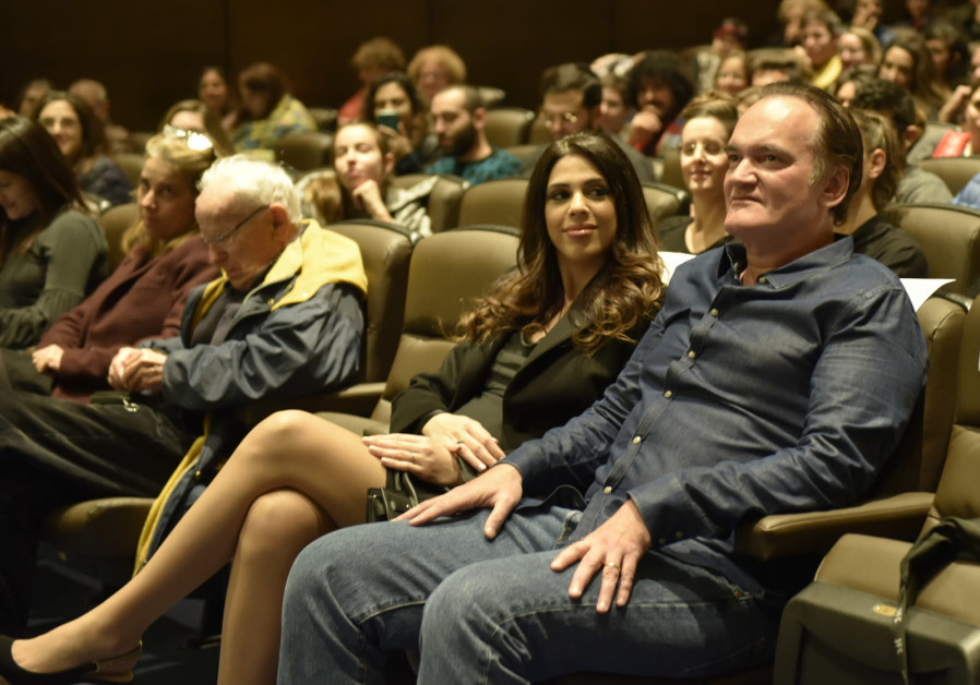 Quentin Tarantino at the Jerusalem Cinemateque on December 14, 2019. (Shaul Weinstein)