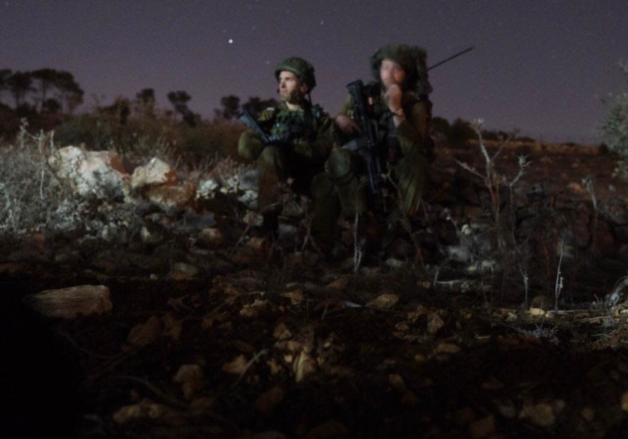 IDF reservists take part in large-scale drill in the West Bank. (photo credit: IDF Spokesperson's Unit)