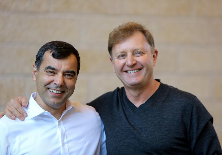 OrCam co-founders Prof. Amnon Shashua and Ziv Aviram. (Credit: OrCam)