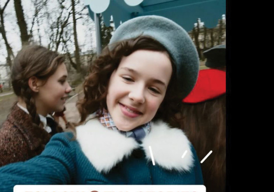 The Instagram page of Eva.Stories, which dramatizes a teenager's Holocaust story to attract young viewers