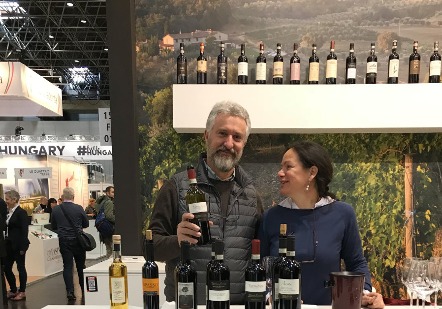 THEY ARE a team in all they do: Maria and Daniele at the Prowein Wine Exhibition in Dusseldorf.