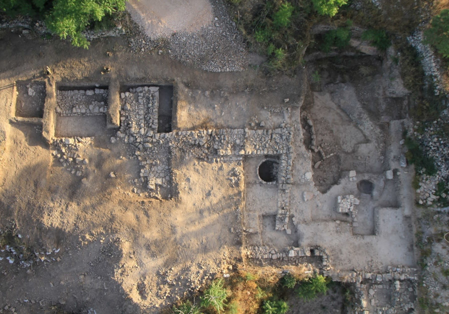 Aerial photo of the temple at the end of the 2013 excavation. Credit: SkyView, Israel Antiquities Authority