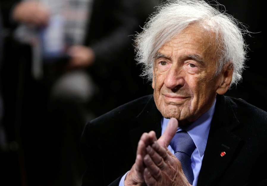 Elie Wiesel participates in a roundtable discussion on 'The Meaning of Never Again: Guarding Against a Nuclear Iran' on Capitol Hill in Washington, in March 2015 (Reuters)
